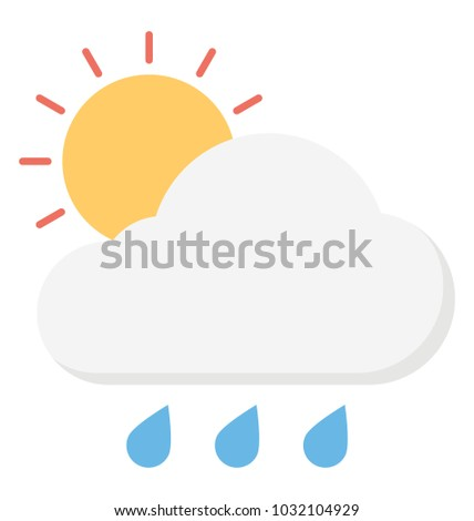 Rain falls while the sun is shining