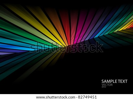 Rainbow color vector background template - Web design background colorful illustration - stock vector