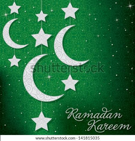 Ramadan Kareem Generous Ramadan mobile card in vector format