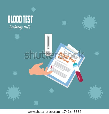 Rapid blood test or COVID-19 laboratory antibody test for diagnosis of viral infections ready for Coronavirus (COVID-19) screening for IgM / IgG diagnostic tests against covid-19 Ivid / IGG