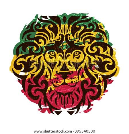 rasta theme with lion head on