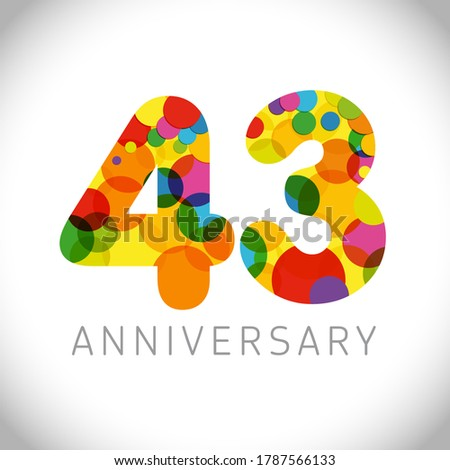 43 rd anniversary numbers 43