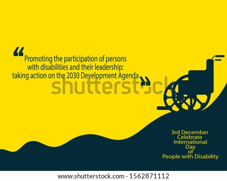 3rd December celebrate International Day for People with Disability,vector illustration.