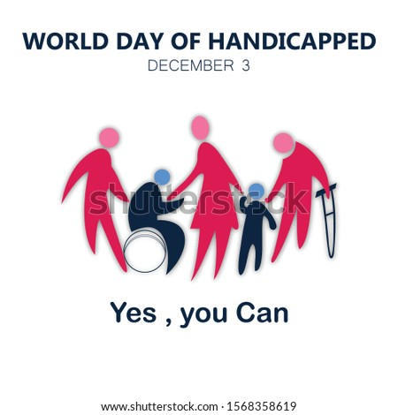 3rd December International day of person with disability - Vector