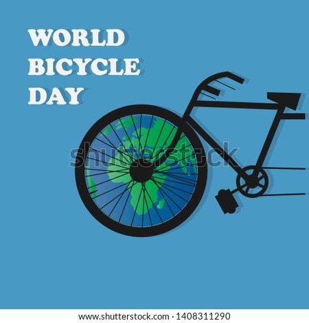 3rd June World Bicycle Day illustration vector image