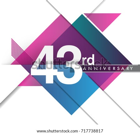 43rd years anniversary logo