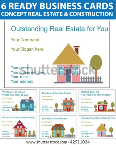 creative real estate business cards. ready real estate business