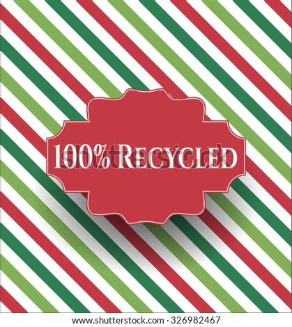 100% Recycled card, poster or banner