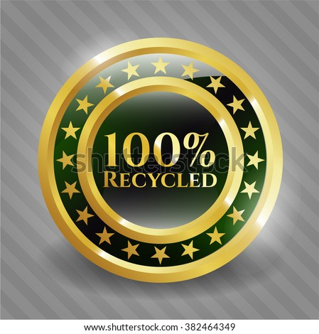 100% Recycled gold badge