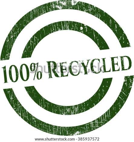 100% Recycled grunge seal