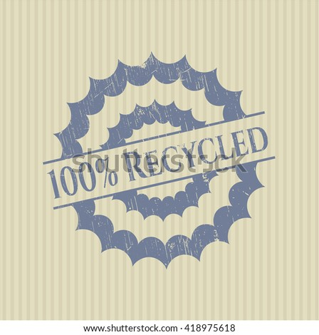 100% Recycled grunge stamp