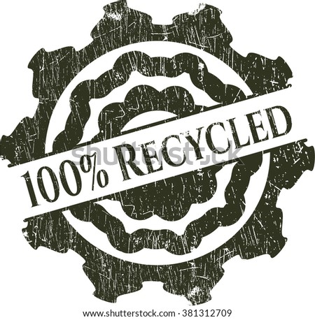 100% Recycled rubber grunge texture seal