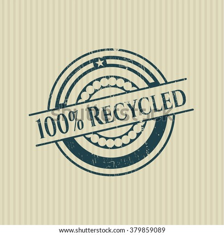 100% Recycled rubber stamp