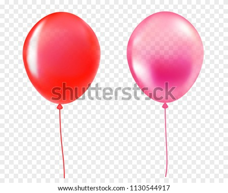 red and pink helium balloon