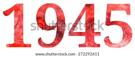1945 red letters 9 may the