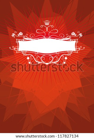 red vector background with frame