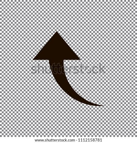 Redo Arrow Icon. Direction arrow sign. Motion icon. Back arrow icon. Arrow button.