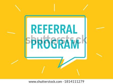 'Referral Program' Vector Illustration. Modern Promo Template. Stock photo ©