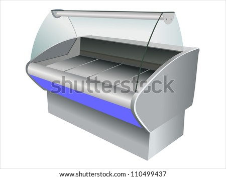 refrigerator on white background