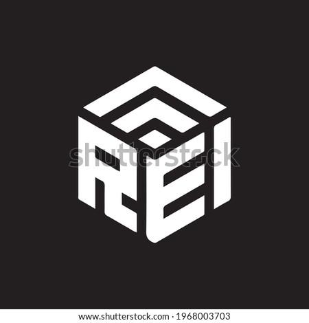 REI letter logo design on black background. REI creative initials letter logo concept. Stockfoto ©