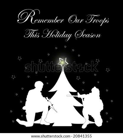 """Remember Our Troops"" holiday card"