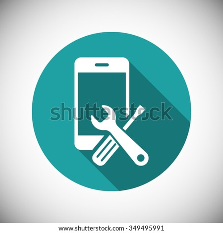 repair phone  icon one of set
