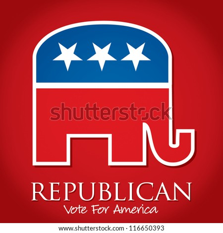 """Republican Vote For America"" election card/poster in vector format."