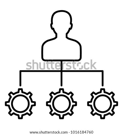 Resource allocation, resource management Line icon