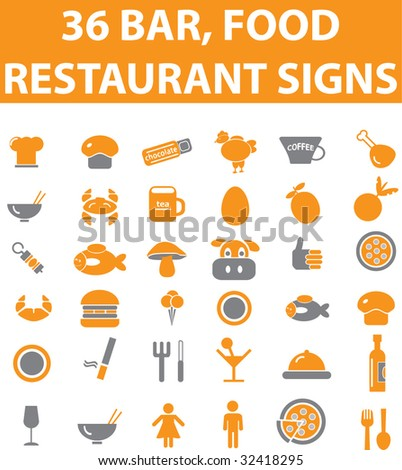 36 restaurant bar food signs vector please visit my for Food bar 36 cafe