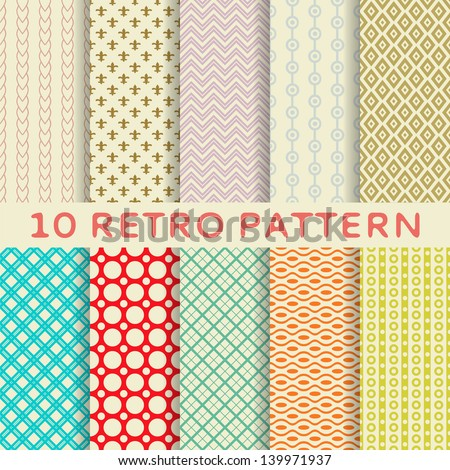 10 retro different vector