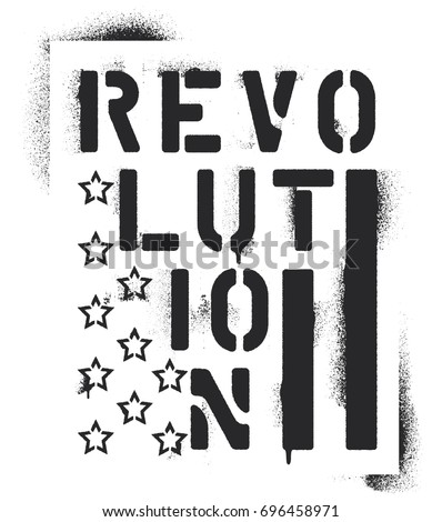 ''revolution'' inscription and