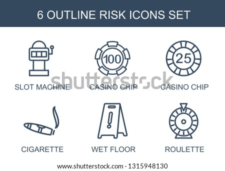 6 risk icons trendy risk icons
