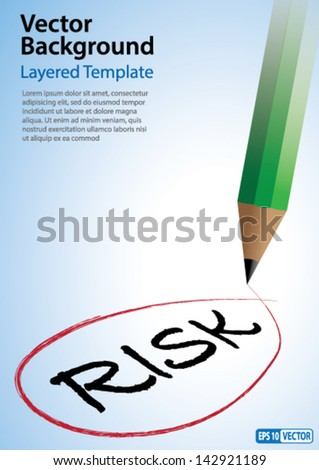 Risk Management Concept - Neat and Clean Vector Background with Copy Space.