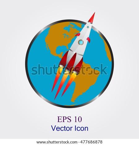 rocket space ship icon