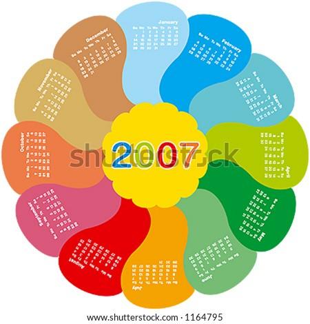 2007 rotating flower calendar
