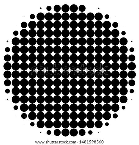round vector with round pattern
