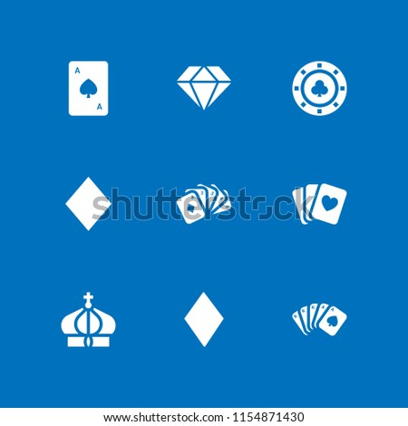 9 royal icons in vector set