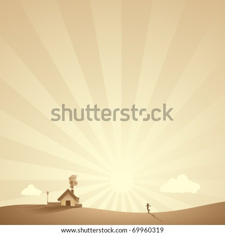rural landscape scene in