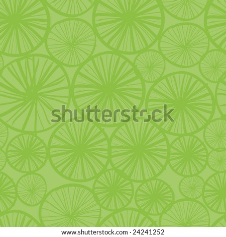 70s green seamless background pattern with stylized circles and lines