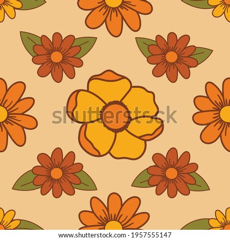 70's inspired floral seamless