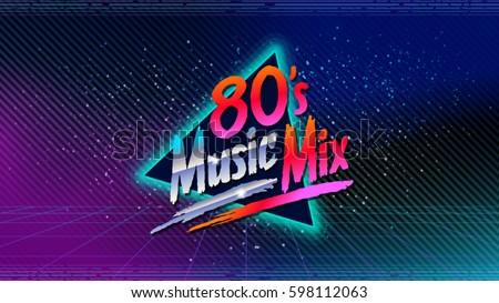 80's music mix retro style