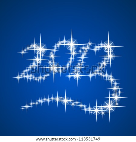 2013's New Year vector stars numbers