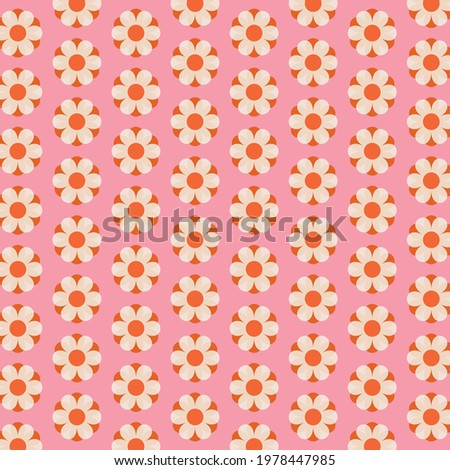 70s Retro flower power pattern background Сток-фото ©