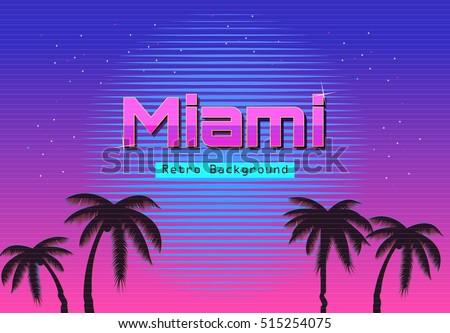 80s retro neon gradient