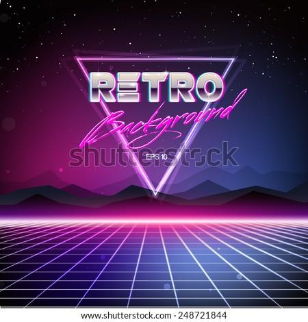 80s Retro Sci-Fi Background Сток-фото ©