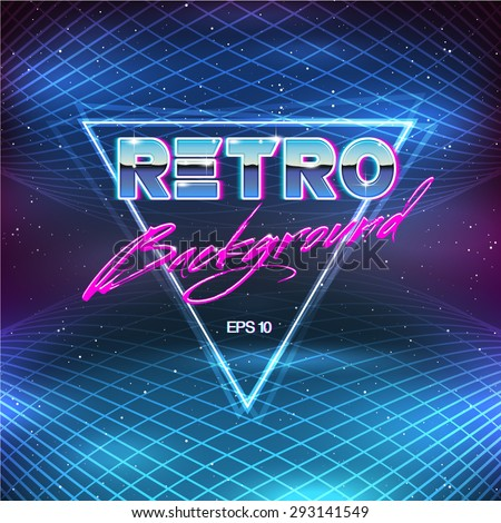 80s Retro Sci-Fi Background