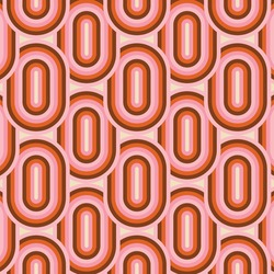 70's Retro Seamless Pattern. 60s and 70s Aesthetic Style.