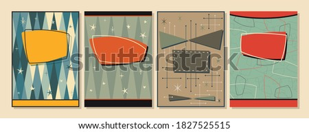 1950s, 1960s Background, Mid Century Modern Patterns, Covers, Posters, Postcard Templates, Vintage Colors Stock photo ©