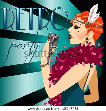 20s 30s party invitation with