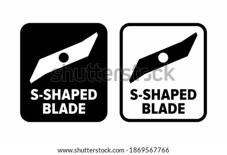 'S-Shaped blade' flat cutting knife information sign Сток-фото ©
